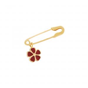 سنجاق قفلی و گل مینایی 2 - الی گلد گالری