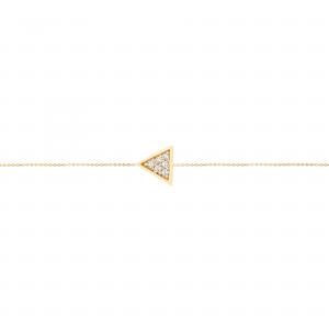پابند مثلث نگینی - الی گلد گالری