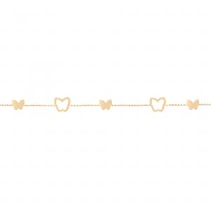 دستبند پروانه پر و خالی (ترکیبی) 1 - الی گلد گالری