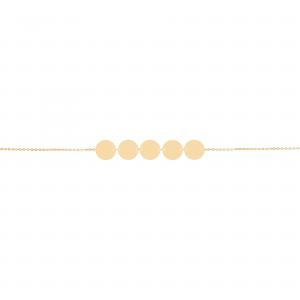 دستبند سکه ای پیوسته (5 تایی) - الی گلد گالری