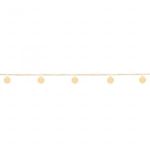 دستبند سکه ای آویزی - الی گلد گالری