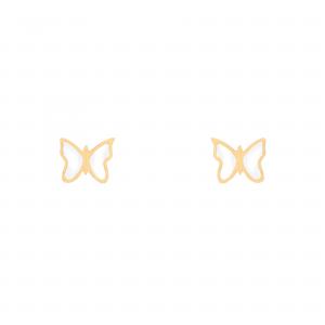 گوشواره پروانه مینایی - الی گلد گالری