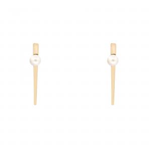 گوشواره خط و مروارید (2.7 سانت) - الی گلد گالری