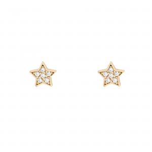 گوشواره ستاره نگینی - الی گلد گالری