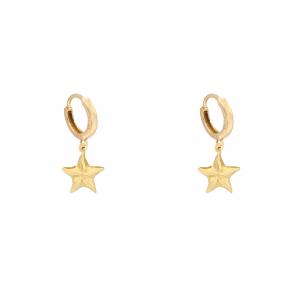 گوشواره ستاره دریایی کلیپسی - الی گلد گالری