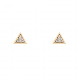 گوشواره مثلث ظریف نگینی - الی گلد گالری