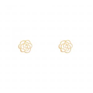 گوشواره گل شنل - الی گلد گالری