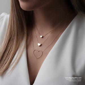 گردنبند قلب ساده - الی گلد گالری