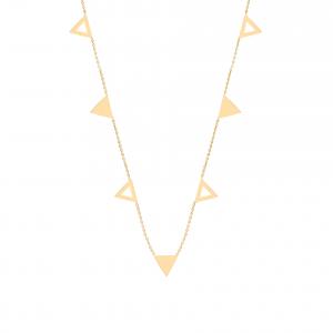 گردنبند مثلث ترکیبی - الی گلد گالری