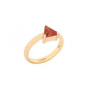 انگشتر مثلث و سنگ - الی گلد گالری
