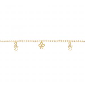 دستبند ترکیبی فرشته و پروانه بچه گانه - الی گلد گالری