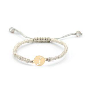 دستبند بافت حرف گ - الی گلد گالری