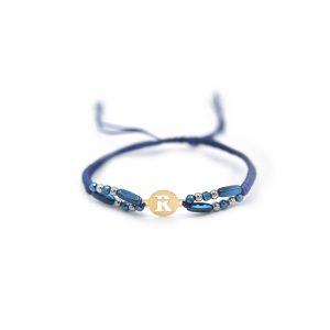 دستبند بافت حرف R - الی گلد گالری
