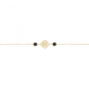 دستبند تک گل رز و مارکو - الی گلد گالری