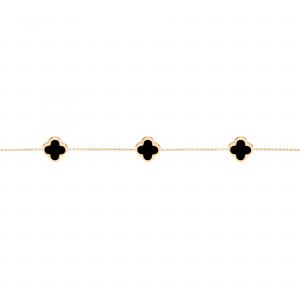 دستبند سه ونکلیف و سنگ - الی گلد گالری