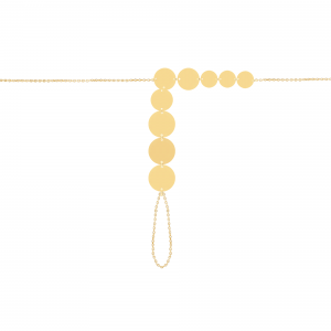 دستبند عربی تمام سکه ای آبشاری - الی گلد گالری