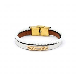 دستبند فیگارو و چرم و سنگ بچه گانه - الی گلد گالری