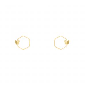 گوشواره آدرین و پروانه - الی گلد گالری