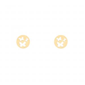 گوشواره دایره و پروانه - الی گلد گالری