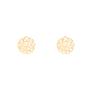 گوشواره گل مثلثی - الی گلد گالری
