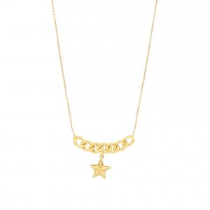 گردنبند کارتیه زنجیری و ستاره دریایی (3.5 سانت) - الی گلد گالری
