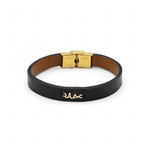دستبند خدا و چرم مردانه - الی گلد گالری
