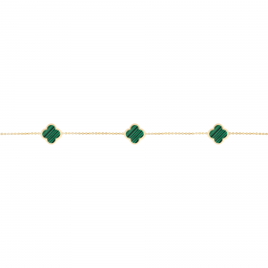 دستبند سه ونکلیف و مالاکیت - الی گلد گالری