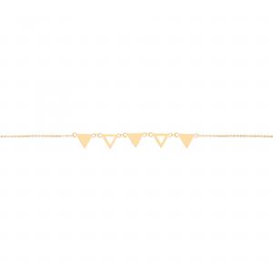دستبند مثلث ترکیبی 2 - الی گلد گالری