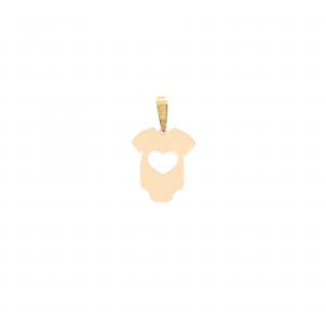 آویز لباس نوزادی و قلب - الی گلد گالری