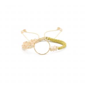 دستبند بافت و سنگ آرن - الی گلد گالری