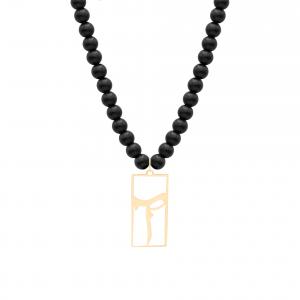 گردنبند سنگی حرف آ - الی گلد گالری