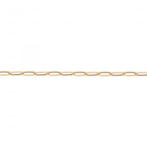 دستبند زنجیر بیضی متوسط - الی گلد گالری