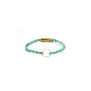 دستبند آرن و چرم (1.3سانت) - الی گلد گالری