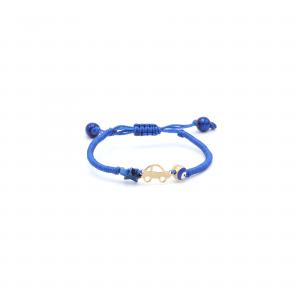 دستبند بافت آبی کاربنی ماشین بچه گانه - الی گلد گالری