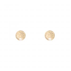 گوشواره سکه چکشی و مروارید - الی گلد گالری
