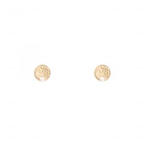 گوشواره سکه چکشی و مروارید کوچک - الی گلد گالری