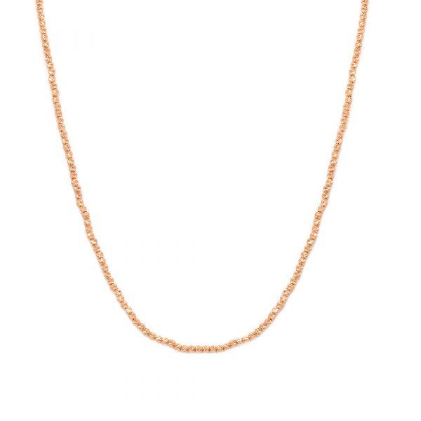 گردنبند گوی البرناردو پیوسته رزگلد - الی گلد گالری