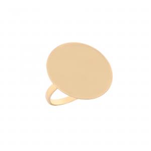 انگشتر سکه ای بزرگ مات (2.8سانت) - الی گلد گالری
