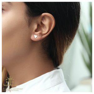 گوشواره مثلث پر - الی گلد گالری