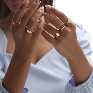 انگشتر رینگ و مثلث پر،انگشتر رینگ و کاج، انگشتر رینگ و شش ضلعی، انگشتر سکه ای1، انگشتر رینگ و بیضی - الی گلد گالری