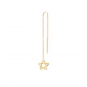 گوشواره ستاره پیچ بخیه ای - الی گلد گالری