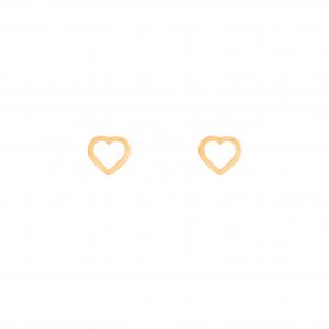 گوشواره قلب تو خالی - الی گلد گالری